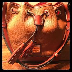 👜❤️NEW D&B Pebble Leather Drawstring